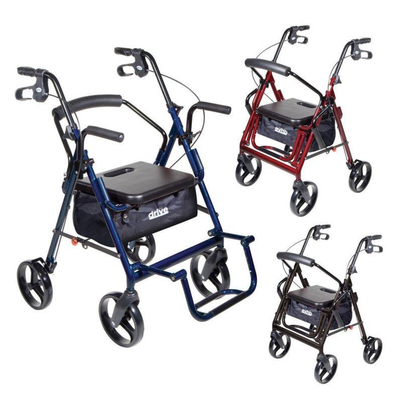Drive Duet 4 Wheel Duet RollatorTransport Chair