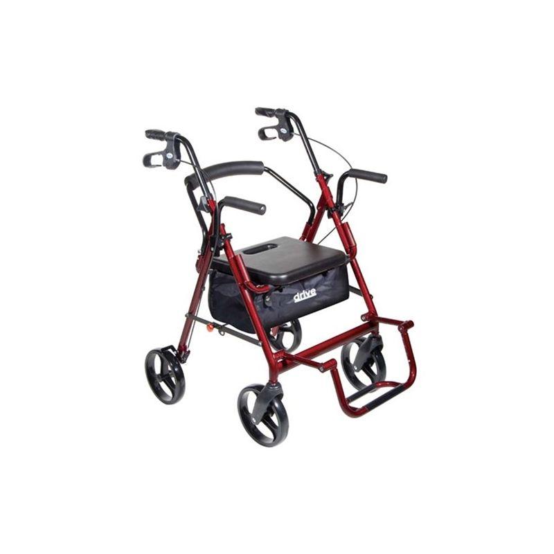 Drive Duet 4 Wheel Duet Rollator/Transport Chair