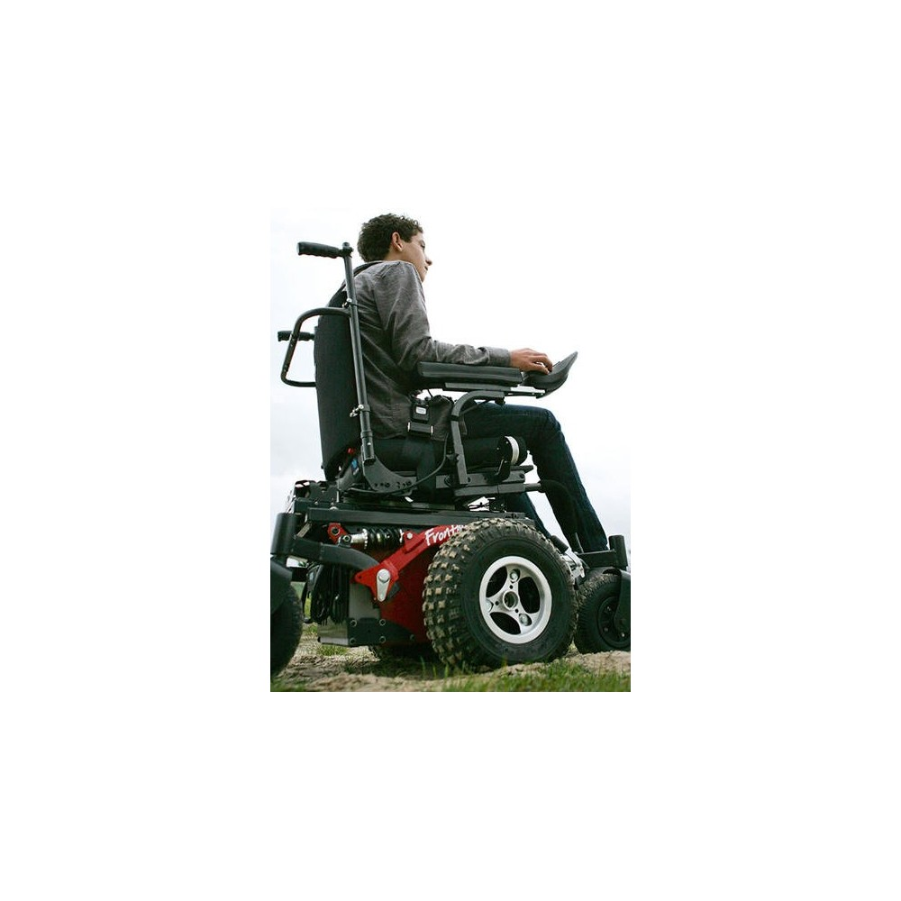 all terrain electric wheelchair dining room chair repair innovation in motion v6 frontier power