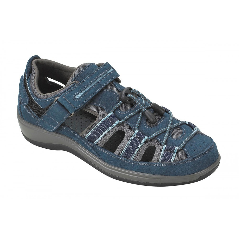 OrthoFeet Womens Naples Diabetic Shoes  Blue  American