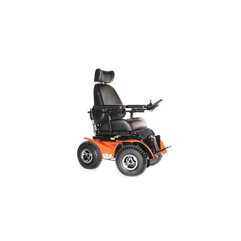 x8 wheelchair plastic rocking chairs extreme all terrain power chair tangerine