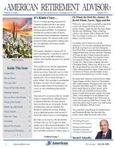 1-2015 January Newsletter Cover