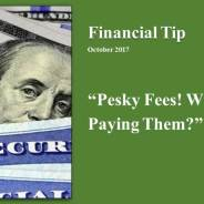Financial Tip of the month Oct 2017