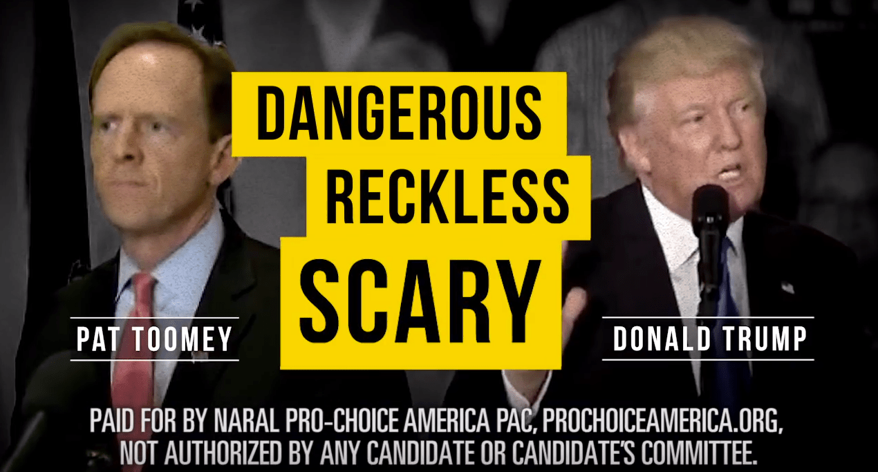 POLITIFACTS: NARAL's Attack Ad's Unsubstantiated Claim on Pat Toomey, Trump & Abortion – FALSE