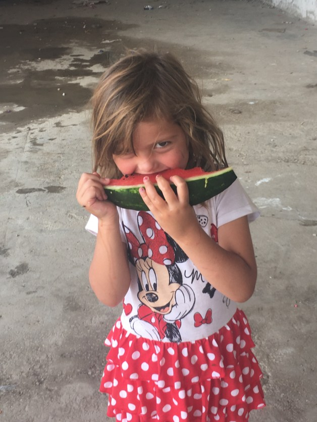 Girl Eating Watermelon, Softex Camp, Thessaloniki GR