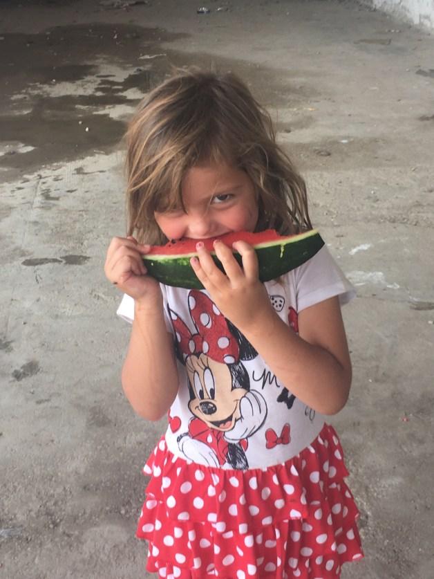 Girl Eating Watermelon, Softex Camp, Thessaloniki GR
