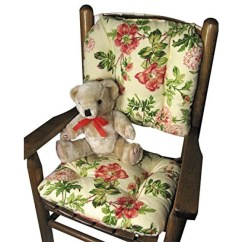 Child Size Rocking Chair Cushions And Stand Optometry Barnett Farrell Multi Latex Foam Fill Tufted Reversible