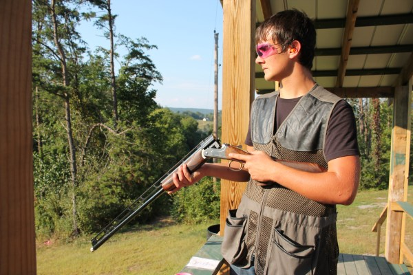 Byers made the most of his CZ-USA All-American Trap Combo test, scoring a 23 on his first round with the new gun.