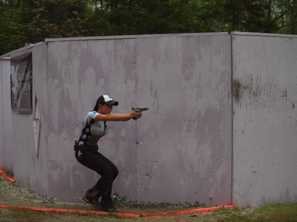 Duff competes during the 2013 USPSA Nationals.