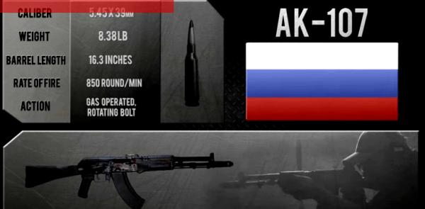 Russian AK-107