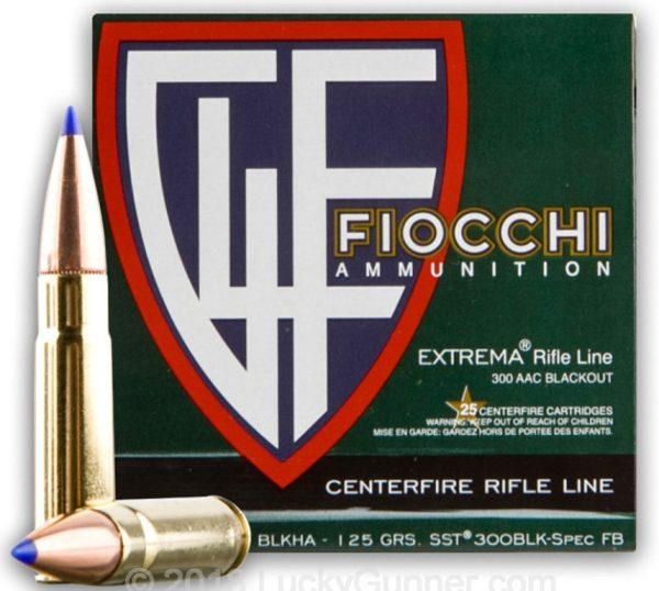 Fiocchi SST 125gn 300 BLK - 25 rounds