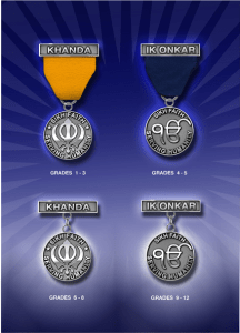 These four medals can be earned by the Boy / Girl Scouts of America by learning different books on Sikhi and passing the respective tests.