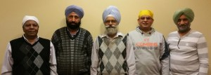Left to Right: S.Kuldeep Singh, S. Sukhchain Singh, S. Satnam Singh, S. Jagjit Singh, S. Malkit Singh