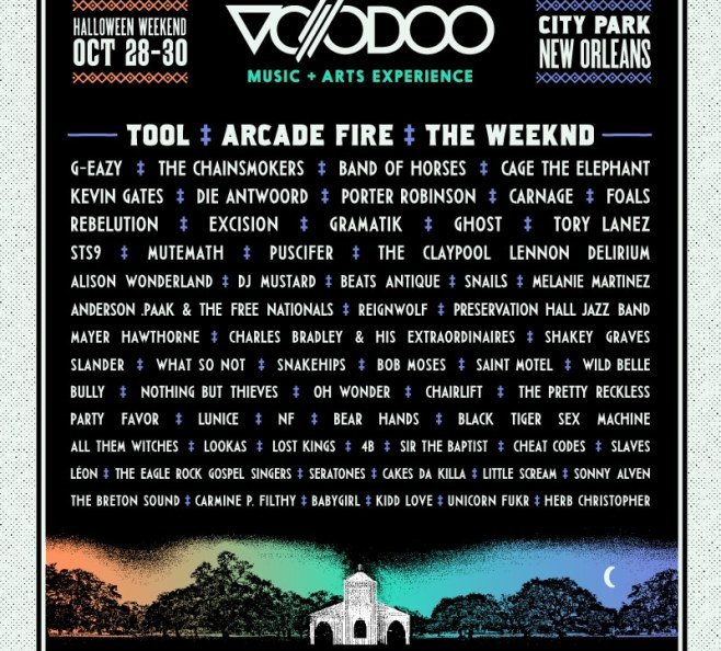 Image result for voodoo 2016 lineup