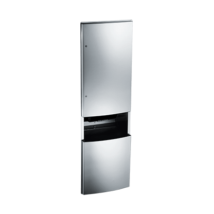 automatic paper towel dispenser for kitchen luxury cabinets roval recessed roll and waste receptacle american specialties
