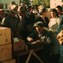 Distributing Surplus Commodities, St. Johns AZ. October, 1942. Photo by Russell Lee.