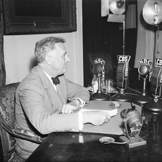 President F.D.R. October, 1935. Photo by Harris and Ewing.