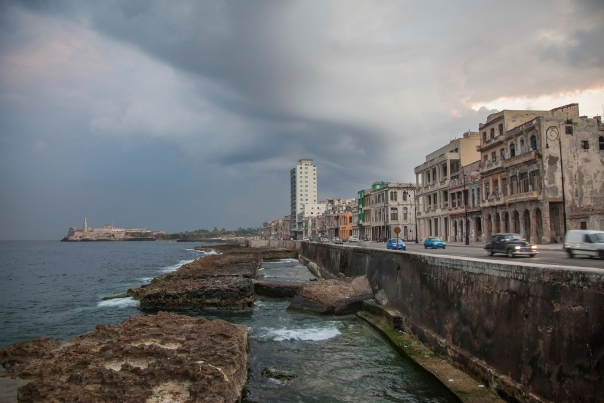 The Malecon from the seawall, Havana