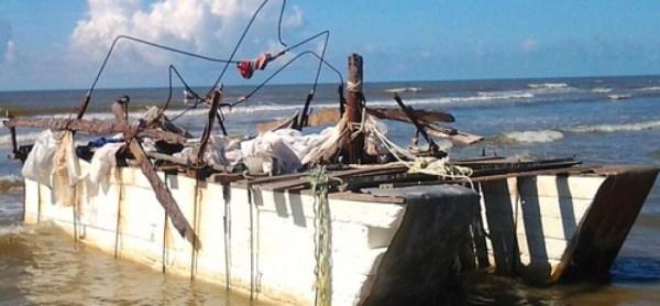 Cuba raft, result of wet foot dry foot