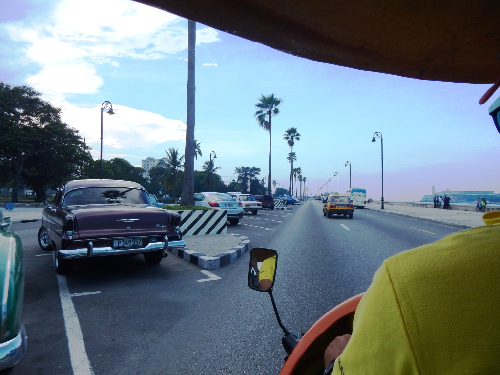 fun cocotaxi ride, Havana