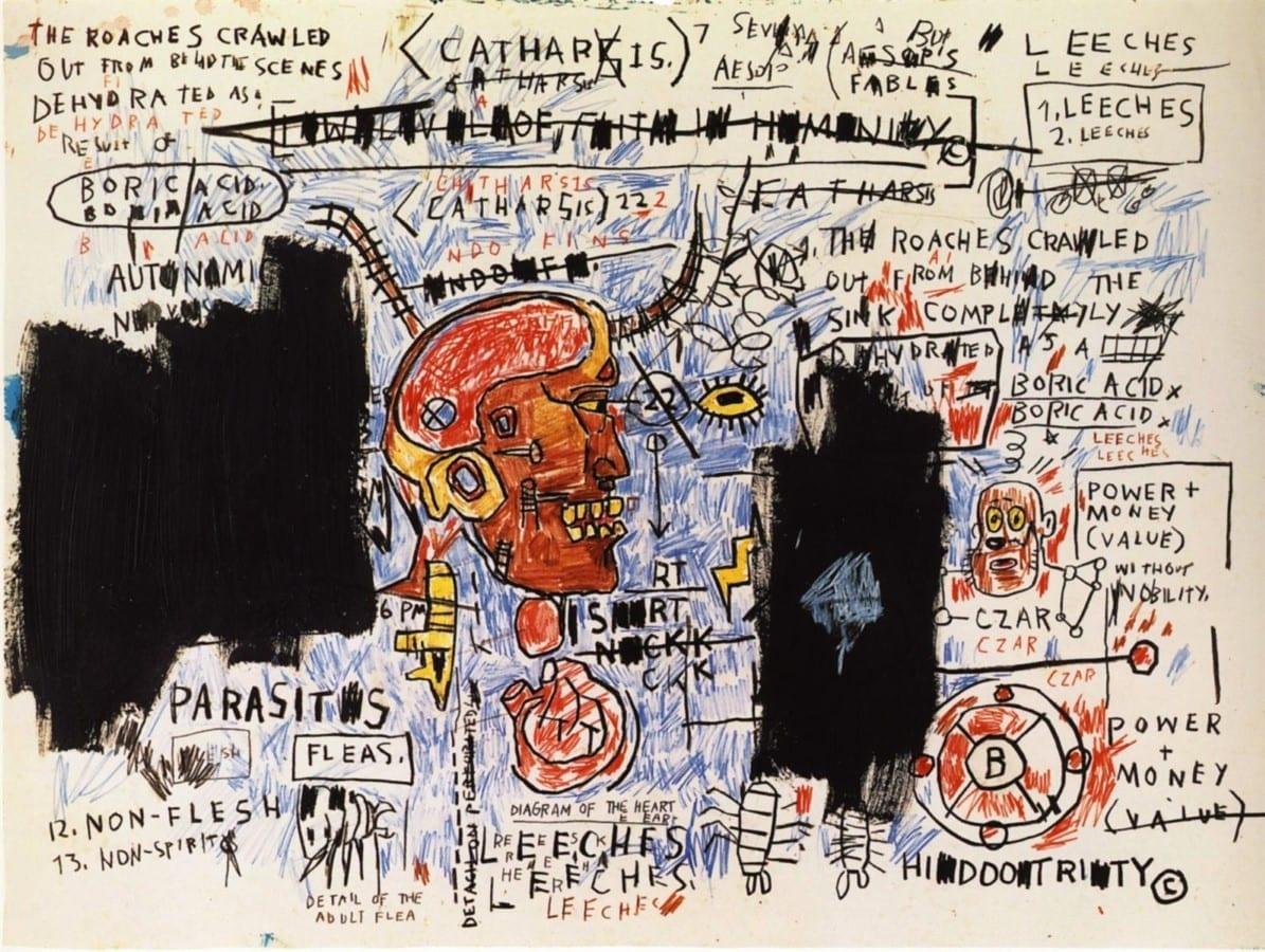 "Jeanmichel Basquiat  ""paintings""  American Suburb X"