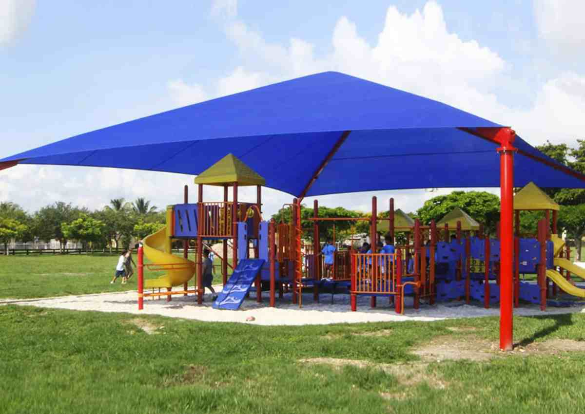 Fabric canopy for school or business