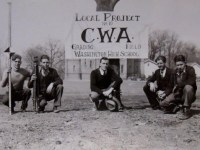 CWA workers take a break to pose for a picture.