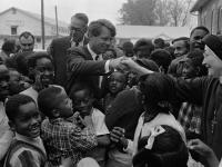 Bobby Kennedy campaigning for President in 1968