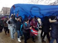 Demonstrating for Federal aid to Puerto Rico on March 20 in Washington, D.C.