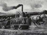 The Tom Thumb, the B&O Railroads premier engine. Rail was an industry Mathew Carey promoted.