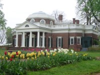 Monticello, a symbol of Jefferson's commitment to the plantation system.