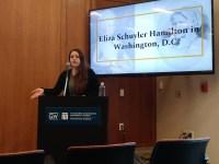 Nichole Scholet de Villavicencio speaks on Eliza Hamilton