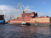Russia's floating nuclear plant, the Akademik Lomonovosov