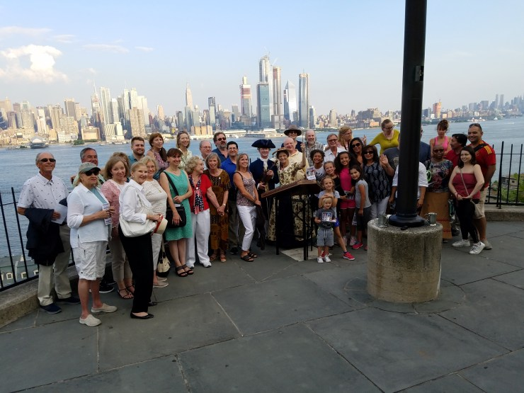 AHA Society Gathers July 11, 2018, in Weehawken, New Jersey, at the Alexander Hamilton Memorial (Photos Provided by Nancy Spannaus)