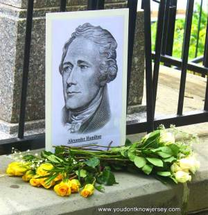 Hamilton grave site at Trinity Church, in the Wall Street area of Manhattan.