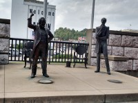 Statues of the Lincoln-Douglas debate in Alton, Illinois. (Nancy Spannaus)
