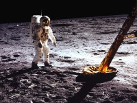 Buzz Aldrin on the Moon, July 20, 1969.