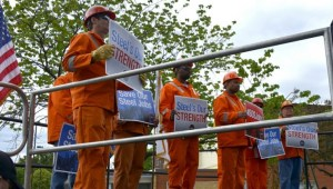 Steelworkers rally in support of tariffs (AAM)
