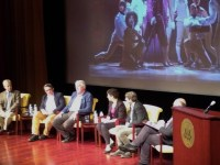 Historians discuss the Hamilton musical at the National Archives Sept. 27, 2018.