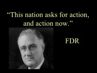 In his inaugural address, FDR demanded action for working people.