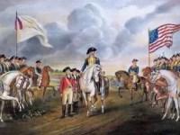 The British surrender at Yorktown.