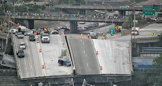 The Minneapolis bridge collapse of 2007--a wake-up call on the state of  U.S. infrastructure.