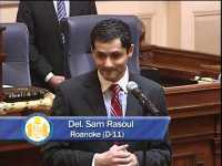 Delegate Sam Rasoul in 2014 (youtube)