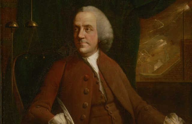 A portrait of Benjamin Franklin in 1762.