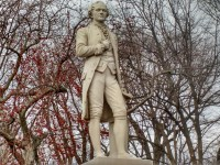 Hamilton statue in New York City's Central Park (Nancy Spannaus)