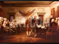 The signing of the Declaration of Independence by John Trumbull.