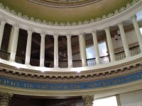 The second floor of the first Bank of the United States. (Nancy Spannaus)