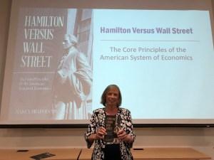 Spannaus to Present Hamilton Versus Wall Street