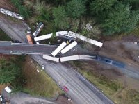 An Amtrak derailment in DeFazio's Northwest on Dec. 18,  2017.