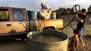 Navajo Indians have to go to great lengths to provide water to their community, as we see here.